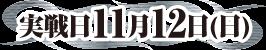 実戦日11月12日(日)